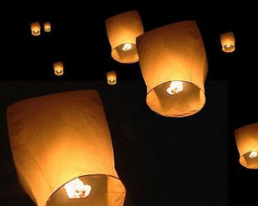 летающие фонари